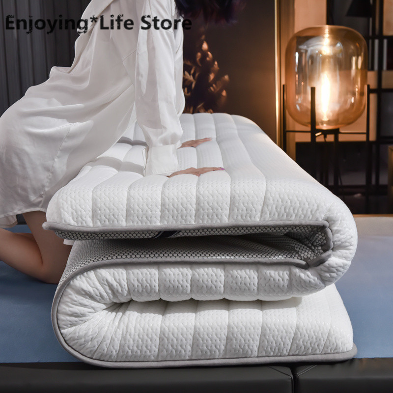 10cm Thickness Fashion Latex Mattress Folding Mattress  For Queen/King /Twin/Full Size Bed Breathe Foam Tatami Mattress