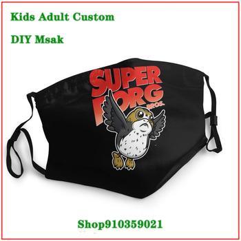 New Arrival face mask designer Super Porg Bros V2 masque tissus lavable Kids adult men women mouthmask washable kids