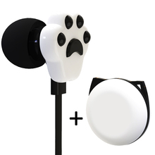 цена на 3.5mm In-ear Earphones Cat Claw Stereo Earbuds with Microphone for IPhone Samsung Xiaomi Girls Kids Child Student Gifts