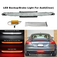 Clear Lens LED Rear Fog Brake Reverse Light For 2007 2013 Audi TT TTS MK2 Coupe