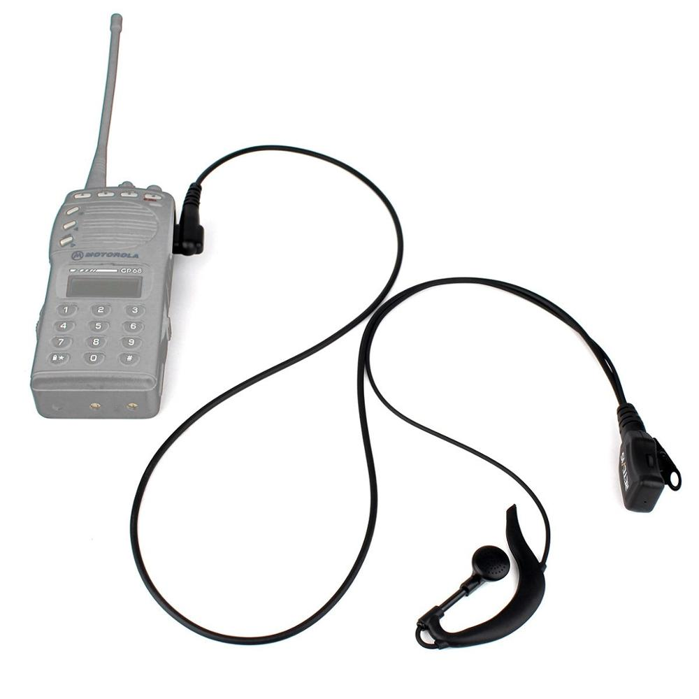 2 Pin Retevis R-111 Type PTT Walkie-Talkie Earpiece Adjustable Volume PU Wire Tensile For MotorolaGP68/GP88/GP300/GP2000/HYT