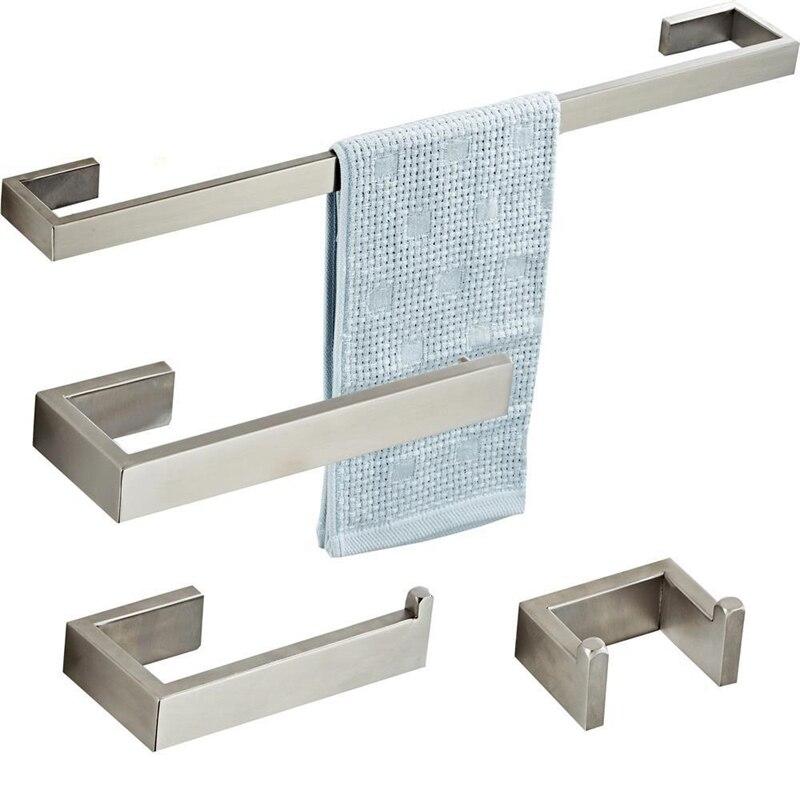 SUS 304 acier inoxydable mural porte-serviettes mode unique anneau de serviette crochet porte-serviettes salle de bains accessoires Kit Rack de stockage