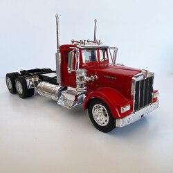 1:32 весы из металла Kenworth Heavy Trailer модель 26 см в длину сплав литье под давлением модель грузовика коллекция фурнитура с моделью подарок на день ...