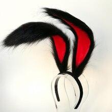 새 토끼 왕국 코스프레 카니발 고딕 로리타 Acessories 여우 귀 머리 후프 모자 여자 아이 손 작업 30cm