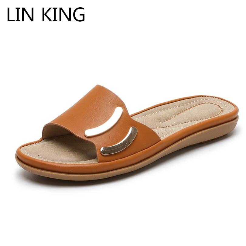 Lin rei moda verão sapatos mulher slides chinelos senhoras ao ar livre chinelos de praia senhoras apartamentos flip flops feminino mais tamanho