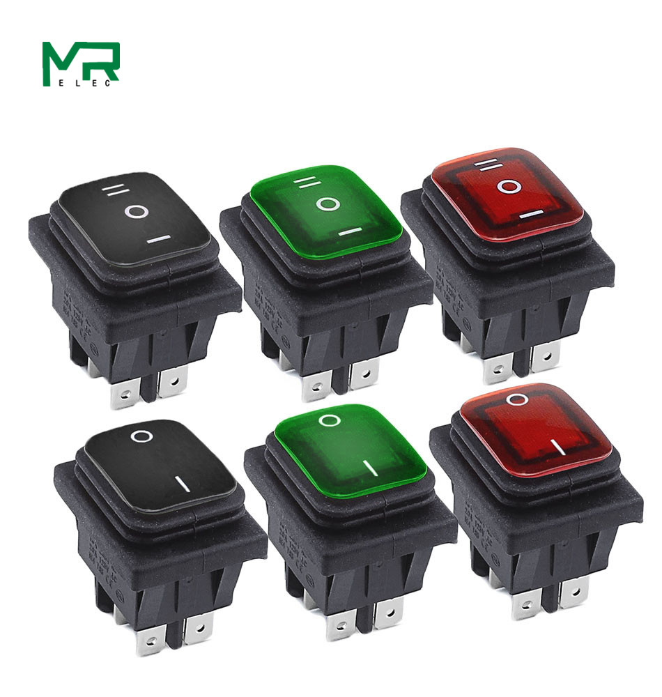 KCD4  Waterproof Switch Rocker Switch Power Switch  2 Position/ 3 Position 6 Pins  Reset Or Self-locking 16A 250VAC/ 20A 125VAC