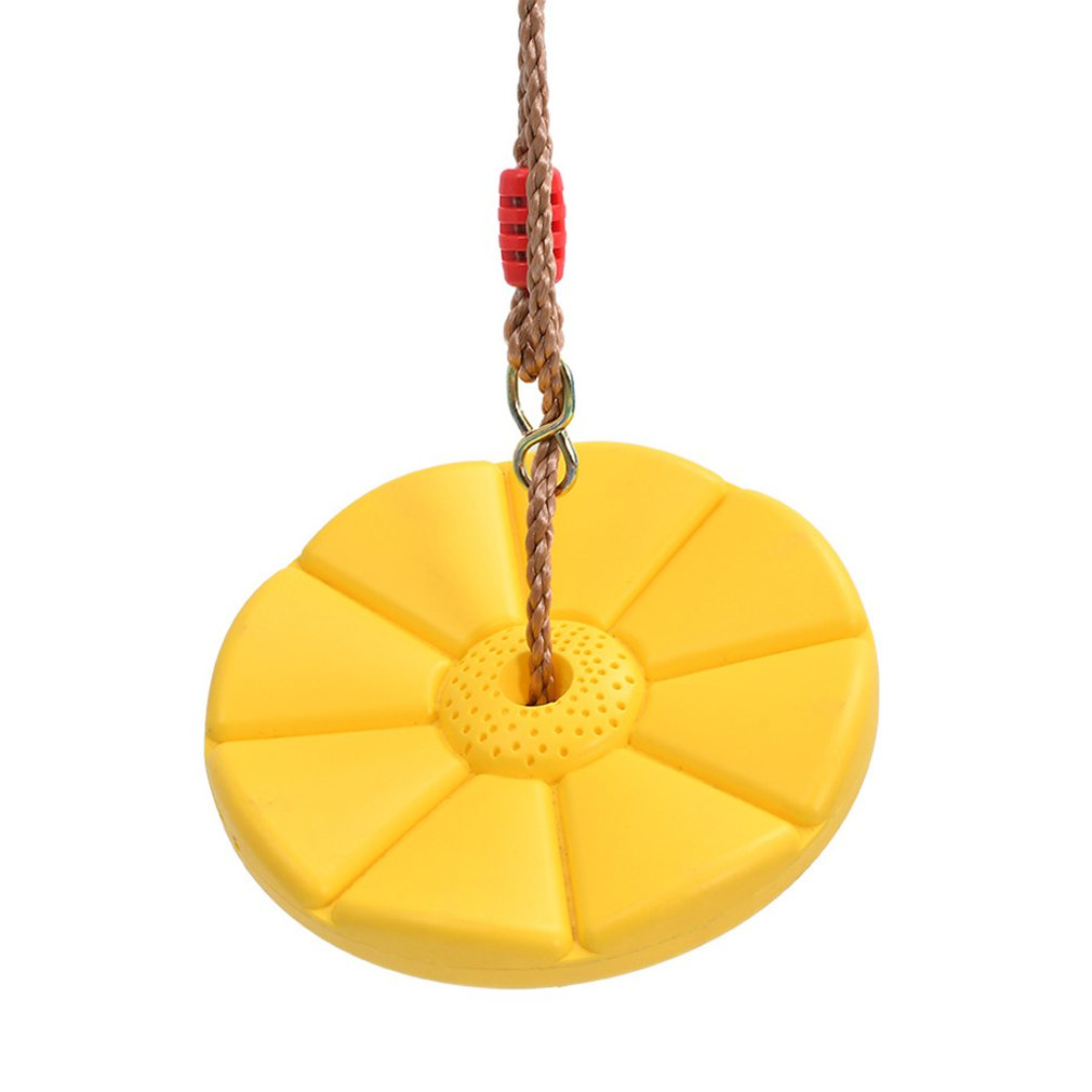 Kids Outdoor Indoor Plate Swing Monkey Swings Safety Funny Round Swing Plate Swing Seat Toys For Chhildren Sport Gift