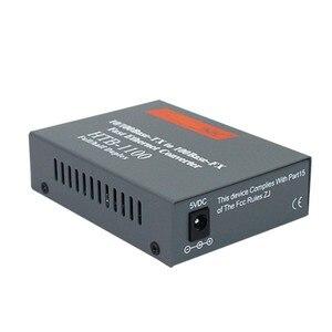 Image 2 - 100 مفايبر محول وسائط بصرية HTB 1100 جيجابت متعدد وضع ألياف مزدوجة SC ميناء الألياف البصرية جهاز الإرسال والاستقبال