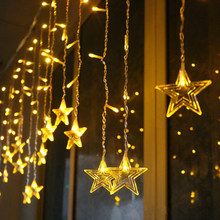 цена на Fairy Lights LED Curtain String Lights Christmas Decorations for Home Christmas Ornaments Decoration New Year Garland Home Decor