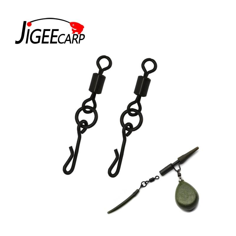 Quick change swivels Size 8 matt black kwik change carp swivels fit safety clips