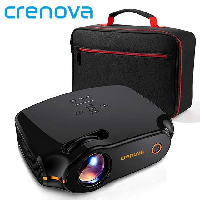 Projecteur LED CRENOVA XPE498, Android 7.1.2 OS, projecteur Android 3200 Lumens avec WIFI Bluetooth cinéma maison cinéma projecteur