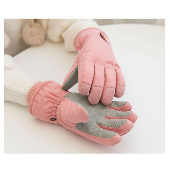 Cute Winter Sport Gloves Skii Camping Luxury Women's Skiing Gloves Driving Snowboard Warm Ladies Glove image