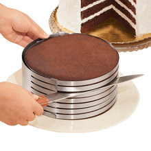 20CM 30CM Adjustable Round Bread Cake Cutter Slicer Stainless Steel Cake Cutter 7 Layers Slicer Mousse Ring Mould Baking Tool