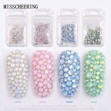 1 упаковка, смешанные размеры(SS4-SS20), Кристальные цветные опаловые Стразы для дизайна ногтей, украшения, блестящие камни, 3D маникюрные книги, аксессуары, инструменты