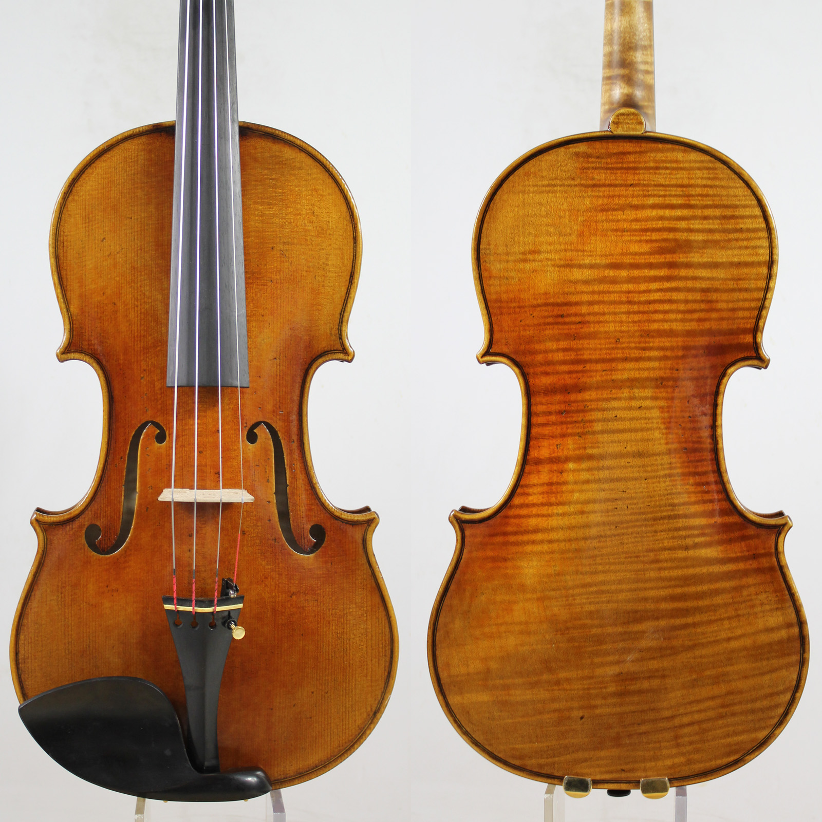 60-y old Spruce!Amazing 1 Pc Back!Antonio Stradivari Soil Violin 4/4 violino Copy, All European Wood,Free Shipping!