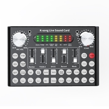 Hot TTKK Professional Mixer DJ Live Equipment Sound Card Microphone Set Perfect for YouTube/Video Conference/Gaming/Zoom/Skype