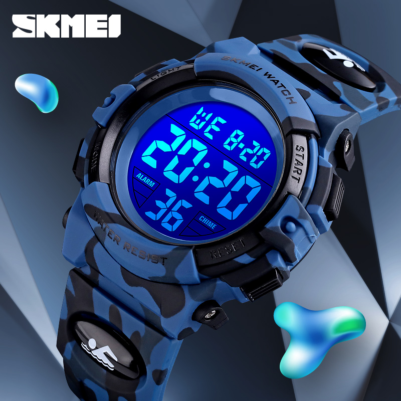 2020 SKMEI Boys Girls Electronic Digital Watch Outdoor Military Sport Watches Clock 50M Waterproof Wristwatch For Children Kids