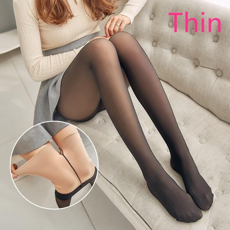 CHRLEISURE Thick Velvet Leggings Women High Waist Through The Meat Warm Casual Pants Women Slim Winter Elasticity 3