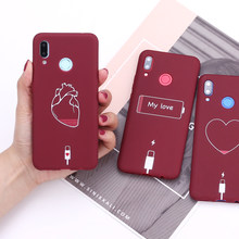 For Samsung S8 S9 S10 S10e Plus Note 8 9 10 A7 A8 Heart Love Power Cable Silicone Phone Case Cover Capa Fundas(China)