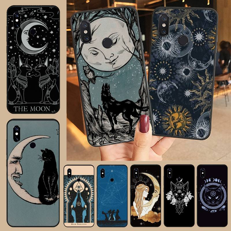 Witches moon Tarot Mystery totem Anti-fall luxury Phone Case funda For Xiaomi Redmi note 7 8 9 t k30 max3 9 s 10 pro lite