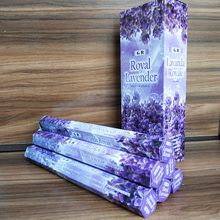 Indian Royal Lavender OUDH Sage Smudge Stick Incense 20pcs/box Meditation Stick Artificial Scent Buddist Small Business Supplies