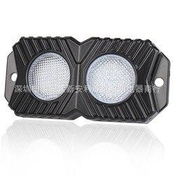 В 2020 Новый двухрядный монохроматический светильник светодиодный декоративный светильник внедорожный автомобильный атмосферный светильн...