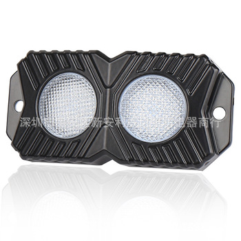 In 2020 The New Double Row Monochromatic Light Rock Light LED Decorative Light Off-road Car Atmosphere Lighting Lamp