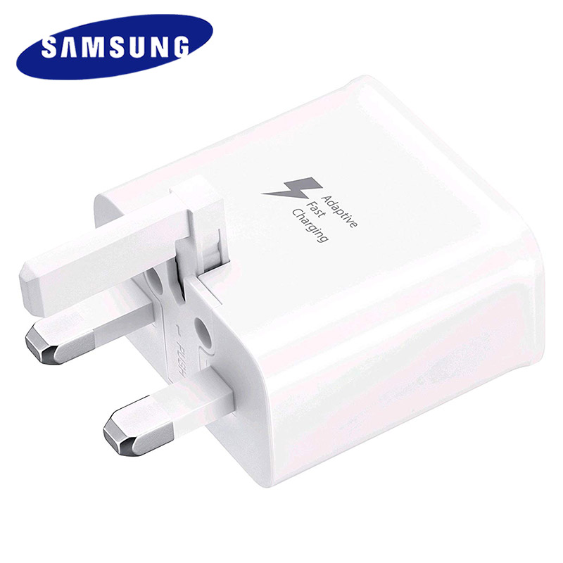 Samsung UK Plug Fast Charger Travel Adapter 120cm Type C Cable For Samsung Galaxy S10 S8 S9 Plus A30 A50 A70 Note 7 8 9