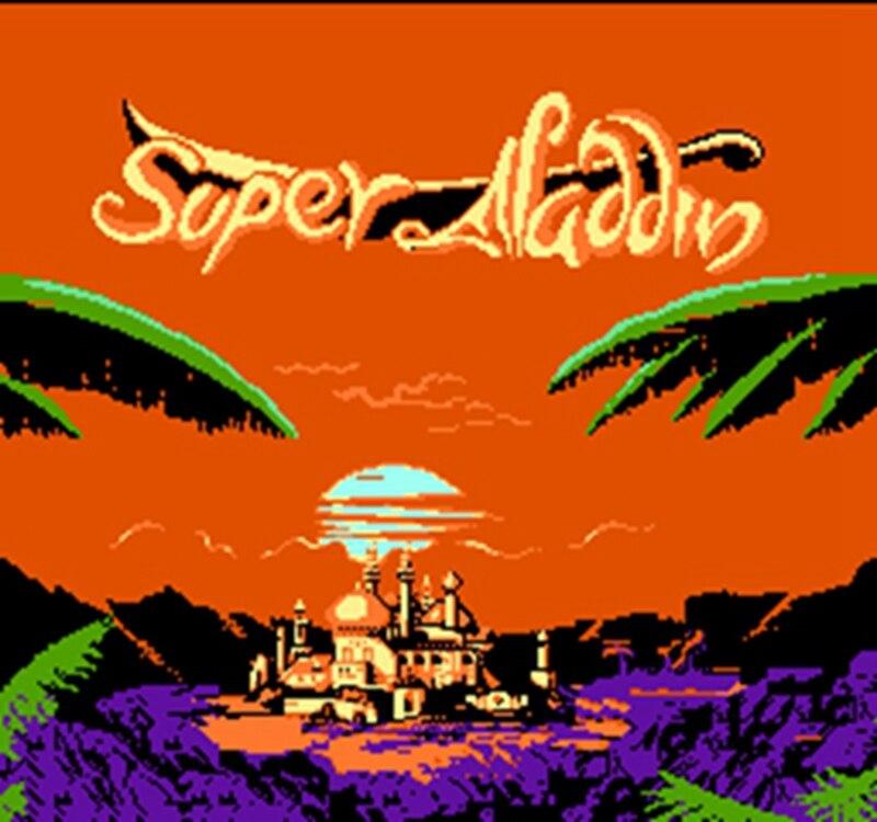 Super Aladdin 60 Pins English Version Game Cartridge for 8 Bit 60pin Game Console