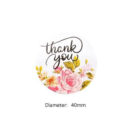 1200 pcs lote bonito redondo obrigado flor