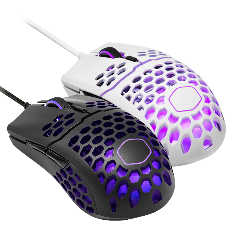 Cooler Master MM711 60G Gaming Mouse with Lightweight Honeycomb Shell,Ultraweave Cable and RGB Accents,Pixart PMW 3389 16000 DPI image