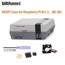 جهاز إعادة تأهيل حقيبة NESPi صغير بمروحة تبريد طقم زر طاقة لألعاب Raspberry Pi 16GB 5000