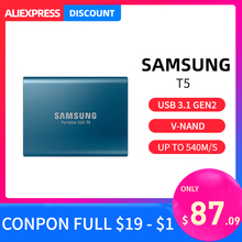 Samsung T5 di động SSD 1TB 2TB 250GB 500GB Loại C Bên Ngoài Di Động USB 3.1 Ổ cứng HDD 1T 2TB cho laptop Mac PC hệ thống