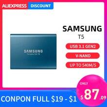 Samsung T5 portable SSD 1TB 2TB 250GB 500GB type c External Portable Hard Drive USB 3.1 hdd 1t 2tb for laptop Mac pc system