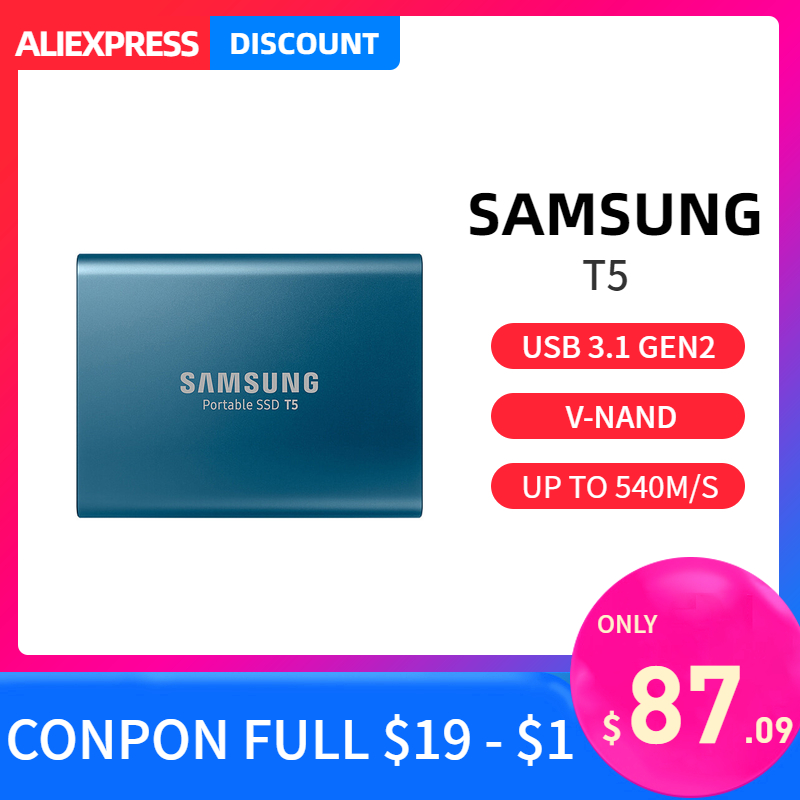 Samsung T5 portable SSD 1 to 2 to 250GB 500GB type c externe Portable disque dur USB 3.1 hdd 1t 2 to pour ordinateur portable Mac pc système