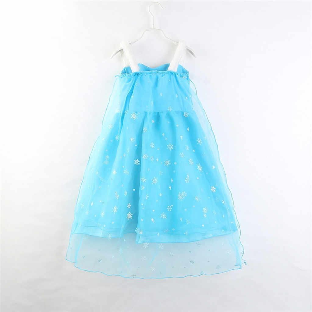חדש אלזה שמלת בנות קיץ שמלת נסיכת אנה קוספליי תלבושות שמלות ילדה נסיכת Vestidos Menina אלזה נסיכת שמלה