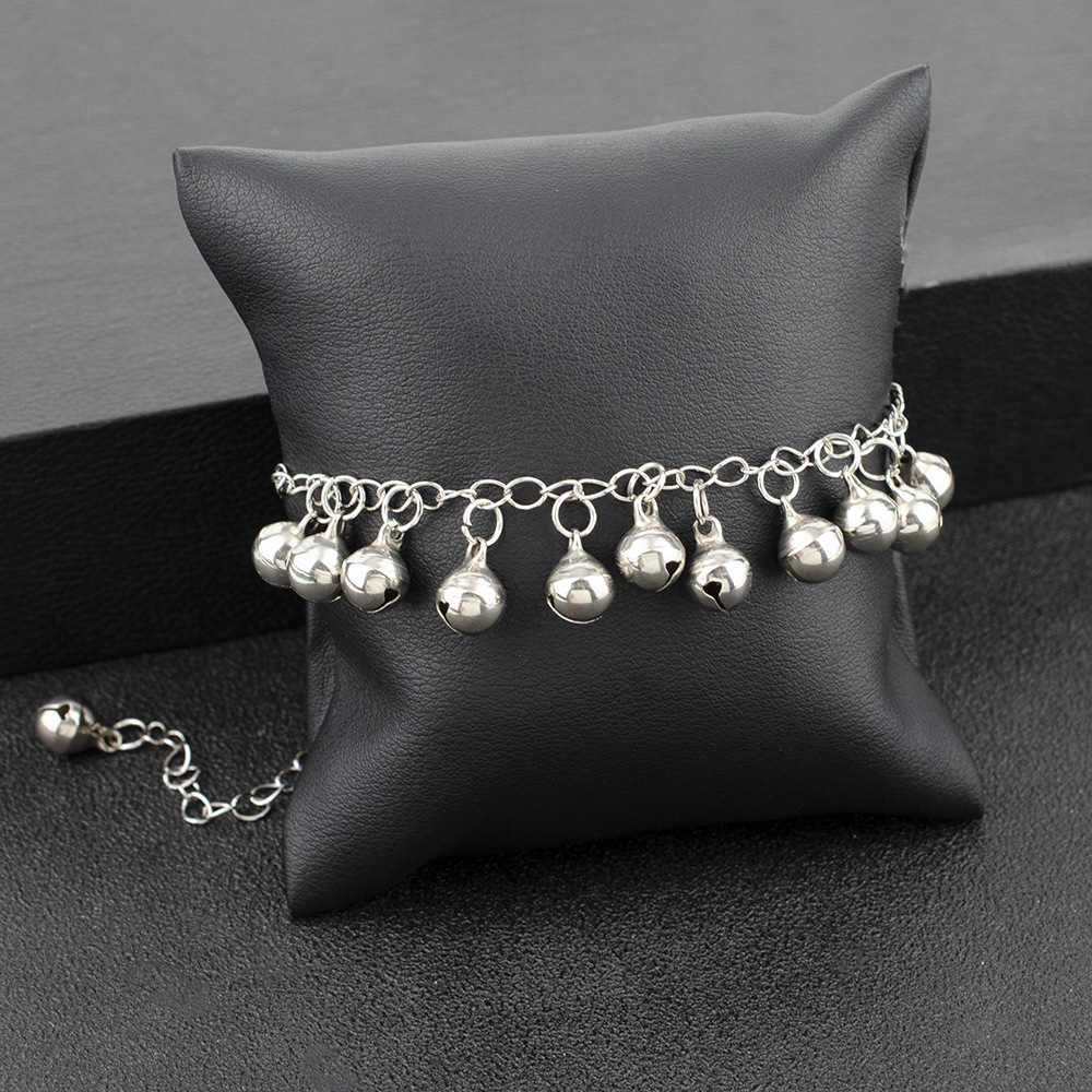 Vintage Christmas Bell Chains Anklets Fashion Simple Sliver Bracelet & Anklet For Women Men Xmas Jewelry Gifts 1