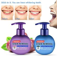 1 Pcs Press Type Baking Soda Whitening Toothpaste Fruity Stain Removal Toothpastes