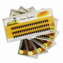 Enxertia mundo 20d cílios individuais 0.07 rússia cílios 60 peças pessoais compõem clusters de cílios