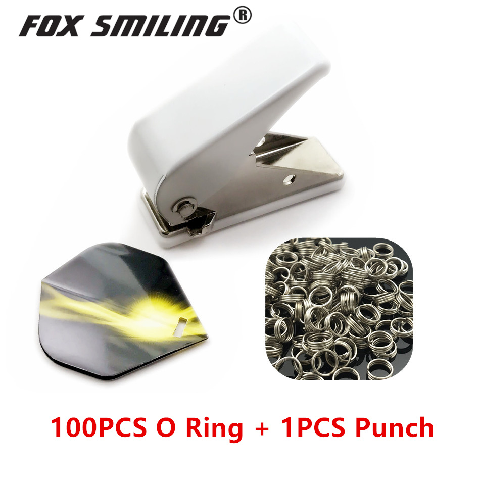 Fox Smiling Professional Dart Flight Punch Dart Wing Hole With 100PCS O Ring Darts Accessories