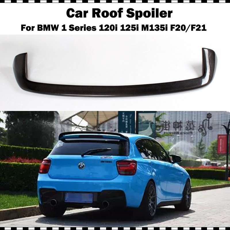For <font><b>BMW</b></font> F21 Spoiler 2012-2018 1 Series <font><b>116i</b></font> 120i 118i M135i <font><b>Carbon</b></font> Fiber for F20 Rear Roof Spoiler AC Style rear spoiler wing image