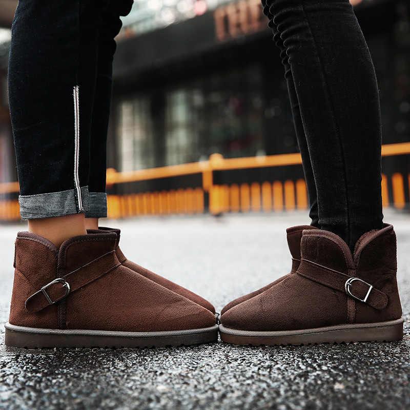 PUPUDA winter schnee stiefel männer mode trend komfortable outdoor klassische baumwolle stiefel slip-on paar stiefel casual schuhe große größe