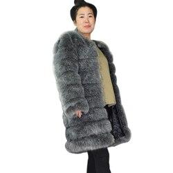 ZADORIN 9 Stappen Luxe Hoge Imitatie Lange Pluizige Dikke Warme Faux Fur Jas Vrouwen Winter Lange Mouw Bont Jassen Vrouwelijke bovenkleding