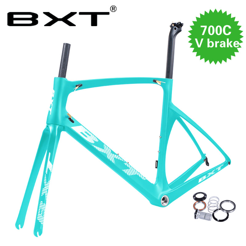 2019 New Carbon Frame V Brake Road Frame Super Light Di2 Carbon Frame Road Bike With Fork+headset+seatpost+clamp Bicycle Parts