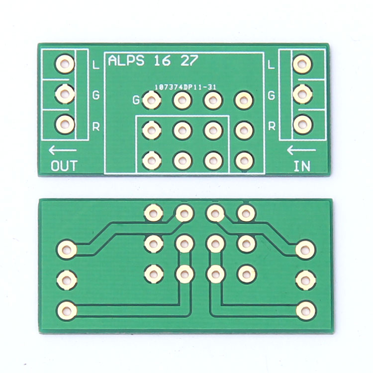 For ALPS 16 Type 27 Type Universal Double Layer Gold-plated Potentiometer PCB Empty Board 48*22.5mm Duoble Side Gold Plating PCB
