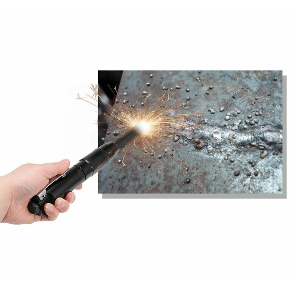 Welders Slag Remove Cleaning Tool Home Needle Scaler Carbon Steel Portable Deburring Rust Corrosion Mini Black Air Pneumatic