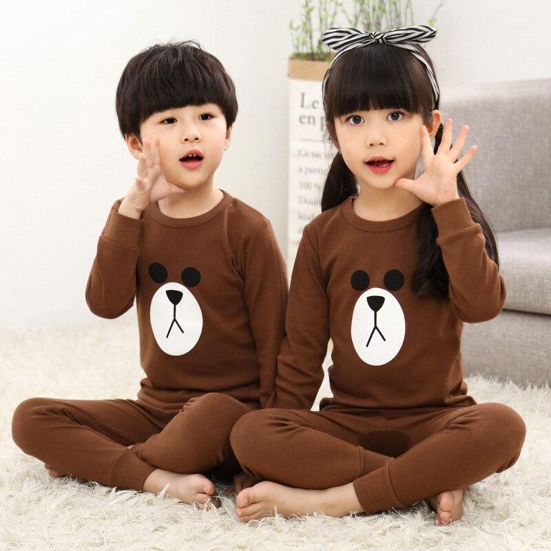 Hc888 Spring And Autumn CHILDREN'S Underwear Suit Korean-style Cotton Crew Neck Children Thermal Underwear 10.3 New Arrival