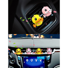 Hot Car Aromatherapy Diffuser Cute Flying Duck Cartoon Air Vent Clip Freshener Perfume J99