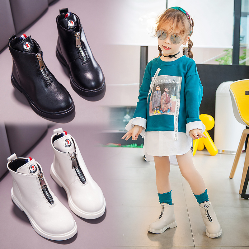 2019 Kids Boots Flat Children Shoes Girls Boys Botas Ankle Buty Winter  Baby Botas Niña PU Sapatos Scarpe Schoenen Zapatos Warm