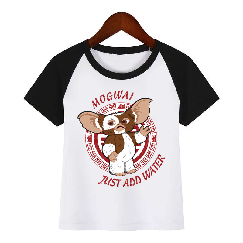Cartoon Print Gremlins Children Funny T-shirts Kids Summer Tees Boys/GirlsTops Baby Clothes